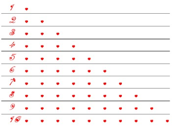 Differentiated Valentine's Heart Counting 1-10