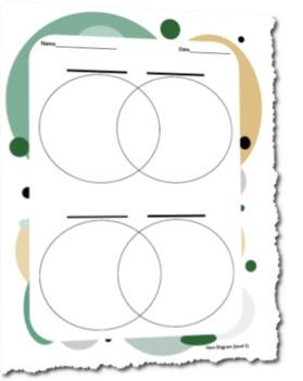 Differentiated Venn Diagram Graphic Organizer