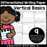 Differentiated Vertical Writing Paper