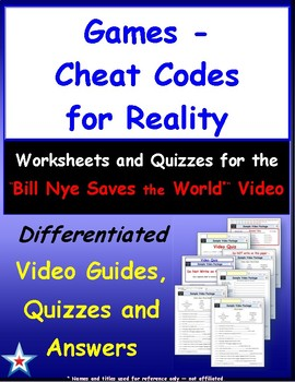 "Differentiated Video Guide, Quiz & Ans. for "" Games - Cheat Codes for Reality *"""