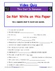 """Differentiated Video Guide, Quiz & Ans. for """"This Diet Is Bananas *"""""""