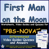 Differentiated Video Worksheet, Quiz, Ans - PBS NOVA -  First Man on the Moon *
