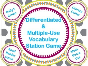 Differentiated Vocabulary Dice Station Game Daily 5 Word Work
