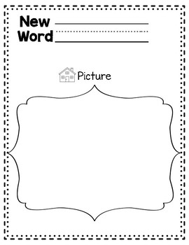 Differentiated Vocabulary Journal