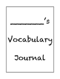 Differentiated Vocabulary Journal Template: Handwriting Wi