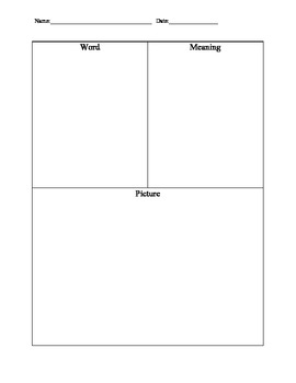 Differentiated Vocabulary Journal Template: Traditional Lines