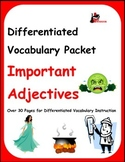 Differentiated Vocabulary Packet for ESL Students - Import