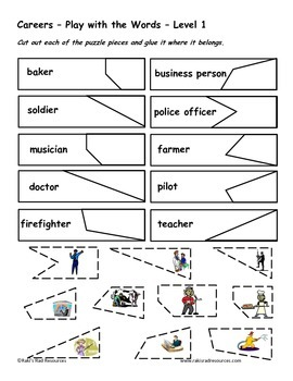 Differentiated Vocabulary Packet for ESL Students - Careers