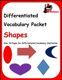 Differentiated Vocabulary Packet for ESL Students - Shapes