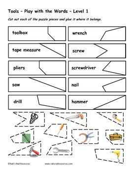 Differentiated Vocabulary Packet for  ESL students -Tools