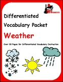 Differentiated Vocabulary Packet for ESL Students -Weather