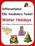Differentiated Vocabulary Packet for  ESL students - Winter Holidays