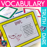 Differentiated Vocabulary Practice with Truth or Dare and Choice Board Activity