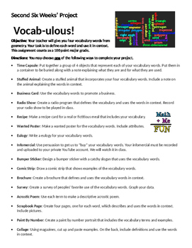 Differentiated Vocabulary Project