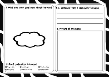 Differentiated Vocabulary Worksheets