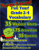 Differentiated Vocabulary for Grade 2, 3 and 4 - Full Year