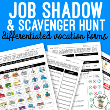 Differentiated Vocation Forms - Job Shadow, Observation, Scavenger Hunt