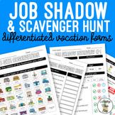 Vocation Forms - Job Shadow, Observation, Scavenger Hunt