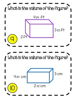 Differentiated Volume of Rectangular Prisms Task Cards