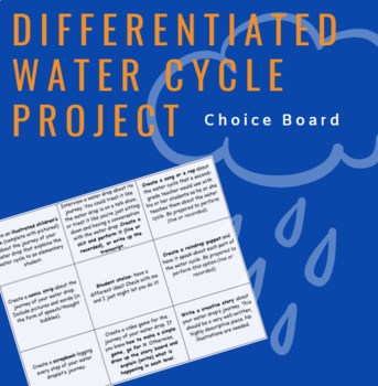 Differentiated Water Cycle Project- Journey of a Water Drop (Best Seller)