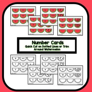 Differentiated Watermelon Number Sense Summer Math for Preschool & Kindergarten