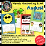 Differentiated Weekly Handwriting Practice AND Art Display