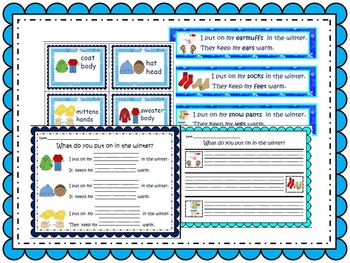 Winter Clothing and Body Part / Sight Word Write the Room - Differentiated Pack