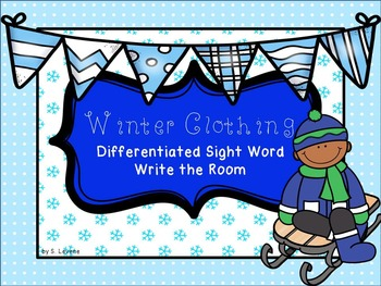 Winter Clothing and Body Part / Sight Word Write the Room