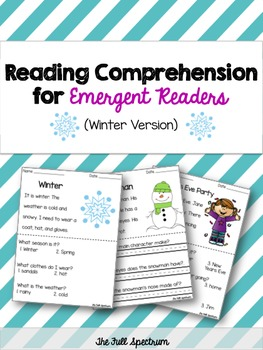 Differentiated Winter Comprehension For Emergent Readers
