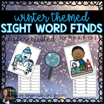 Differentiated Winter/January Sight Word Find