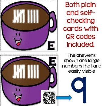 Winter Numbers & Counting with Tally Marks Differentiated QR Code Task Cards