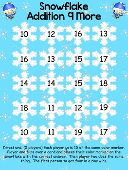 Winter Math Addition Facts Centers Common Core Alligned