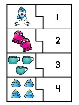 Differentiated Winter Number Sense Puzzles (1-10)