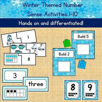 Winter Themed Number Sense Activities (1-10)