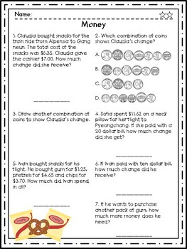 Differentiated Winter Sports Math Packet