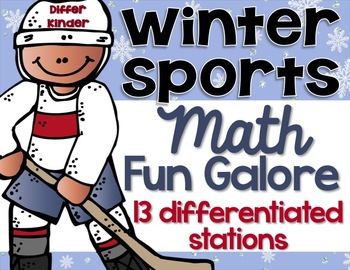 Differentiated Winter Sports Math Stations Galore - 13 Aligned Stations