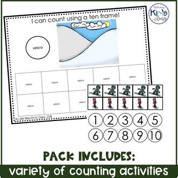 December/ Winter Themed Math Centers / Independent Work