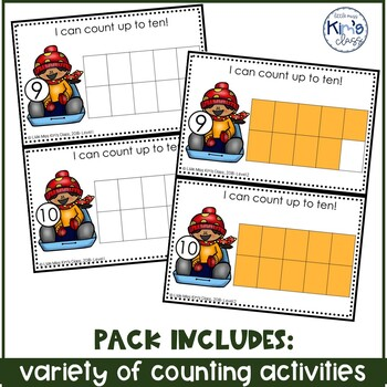 December/ Winter Themed Math Centers for Special Needs, ECE or Kinder