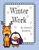 Differentiated Winter Work Worksheets/Break Packet