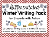 Differentiated Winter Writing Pack for Students With Autism {21 Page Versions}