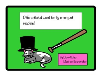 Differentiated Word Family Emergent Reader Pack!