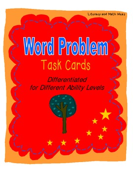 Differentiated Word Problem Task Cards