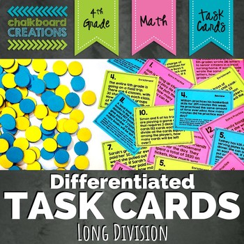 Differentiated Word Problem Task Cards: Long Division