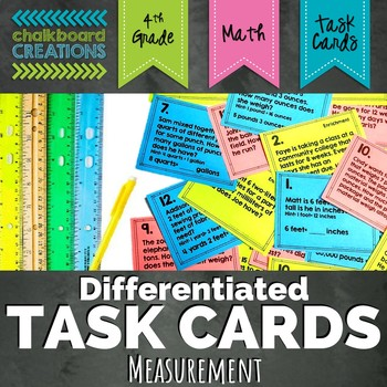 Differentiated Word Problem Task Cards: Relative Sizes of Measurement Units
