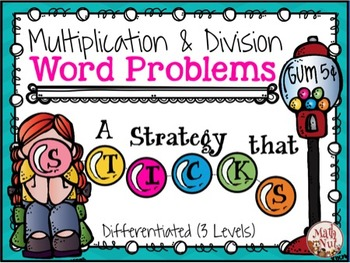 """Multiplication and Division Word Problems """"Differentiated Word Problems"""""""