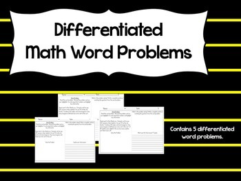 Differentiated Word Problems