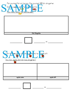 Differentiated Word Problems Simplified Language, Visuals and Graphic Organizers