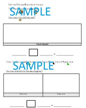 Differentiated Word Problems Simplified Language, Visuals