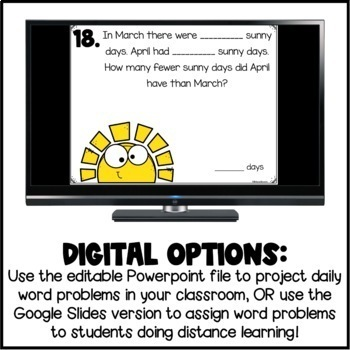 Differentiated Word Problems: Spring Edition