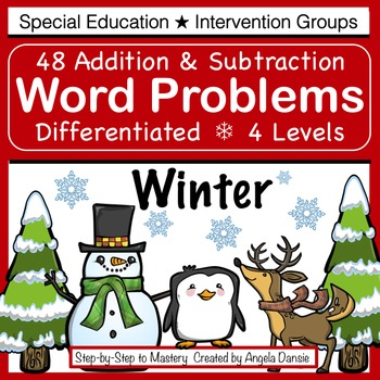 Differentiated Word Problems ~ Winter